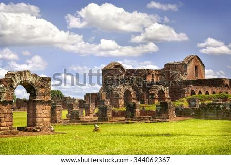ruins of the jesuit guarani...