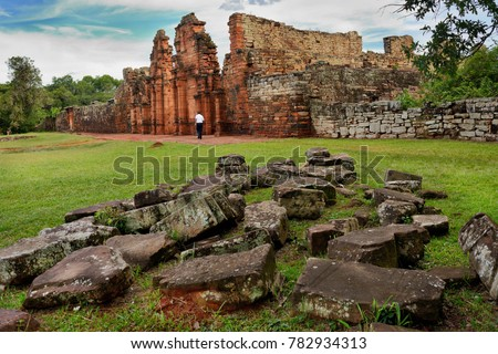 ruins of the jesuit reduction...