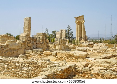 Ruins of the Sanctuary of Apollo Hylates near Limassol, Cyprus