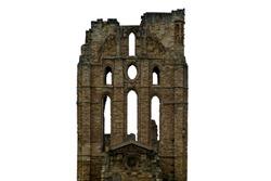 Ruins of Tynemouth Priory (Uk) isolated on white background