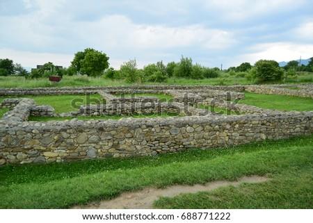 Ruins of Ulpia Traiana Sarmizegetuza 4 Imagine de stoc ©