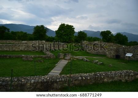 Ruins of Ulpia Traiana Sarmizegetuza 3 Imagine de stoc ©