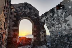 Ruins sunset
