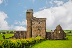 Ruins the Abbey of Saint Mary of Crossraguel.South Ayrshire, Scotland