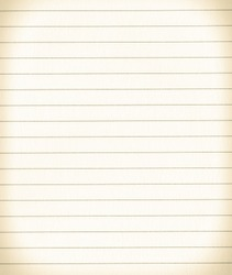 Ruled sheet of paper texture or background