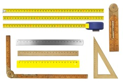 rulers set isolated on white