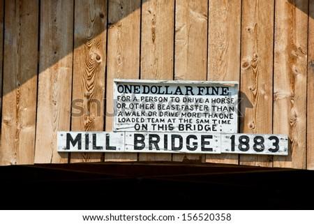 Rules for the Mill Bridge in Tunbridge, Vermont: \