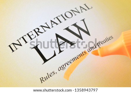 Rules of international law / International agreements of law / Law of international treaties / International law documents. #1358943797