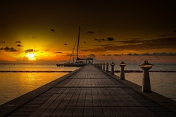 Rum Point at sunset, Grand Cayman
