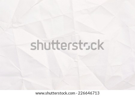 Rumpled crumpled paper texture background