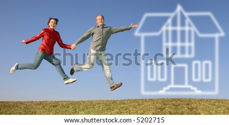 run fly jump couple to house of dream