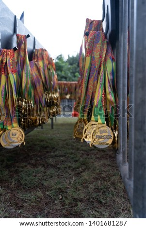 Run for life The medals of the Honolulu Marathon endurance strength determination fitness reward honor run the run the race win the prize
