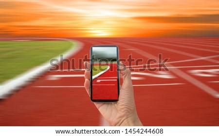 run track, track hand photo