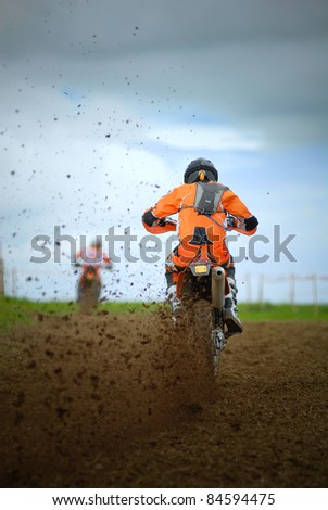 runner at motocross competition,