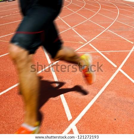 Runner on competitive running