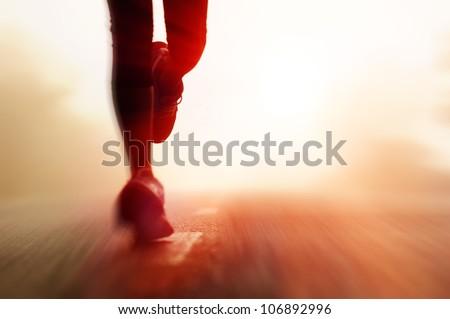 Runner's Feet - stock photo