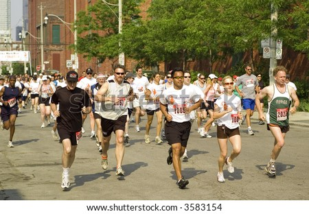 Runners at the 2007 Father's Day Run for Prostate Cancer Research in Toronto