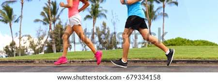 runners legs sprinting outdoors ...