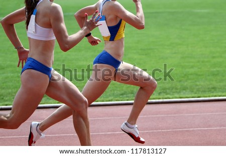 Runners on the track