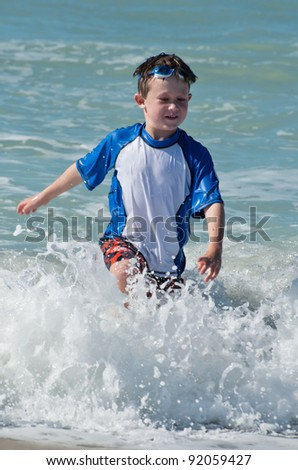 Running from the ocean