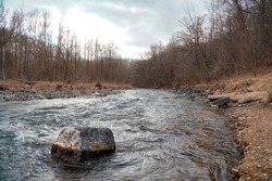 Running river at Patapsco state park. Trail was Union Dam Trail.