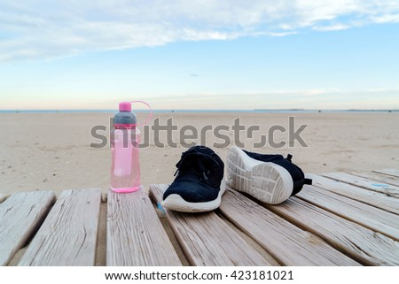 running shoes and water #423181021