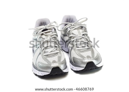 Running shoes isolated on white background - stock photo