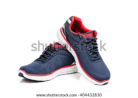 running shoes on a white background #404432830
