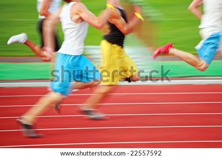 Running the race (motion blur)
