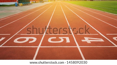 Running track for athletics, The athlete liberation point.