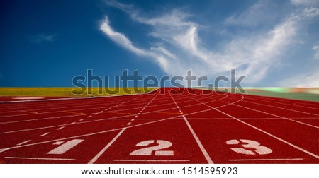 Running track for the athletes background, Athlete Track or Running Track #1514595923