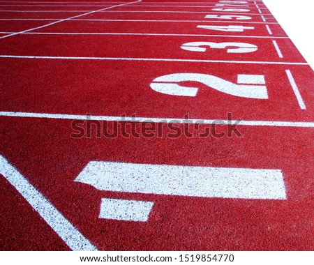 Running track for the athletes background, Athlete Track or Running Track #1519854770