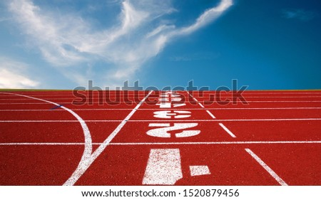 Running track for the athletes background, Athlete Track or Running Track #1520879456