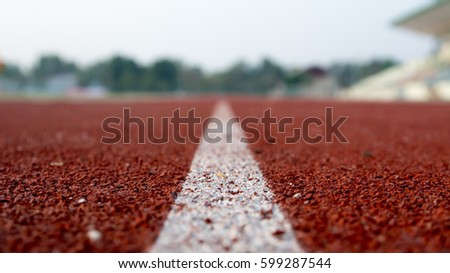 Running track for the athletes background, Athlete Track or Running Track #599287544