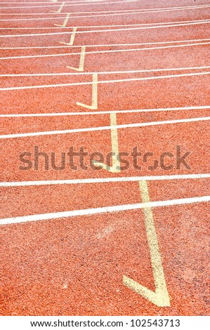 running track in sport stadium