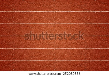 Running track in top view.