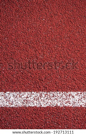 Running track rubber cover texture with line for background