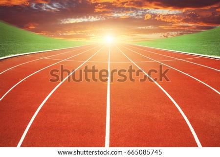 Stock Photo Running track: sport concept