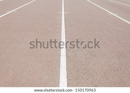 Running Track with symbols sports center, sports and training