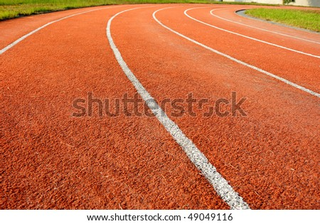 Running tracks in a school