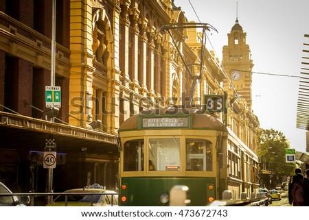 Running tram, Melbourne