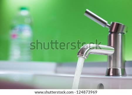 Running water out of modern faucet