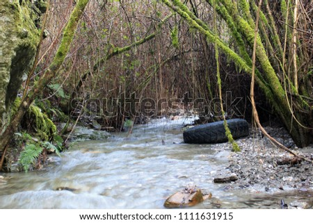 runoff water flows down the...
