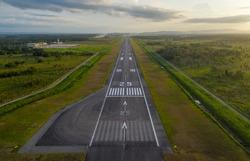 Runway 25 at El Catey Intl Airport
