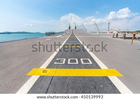 Runway Deck of the Aircraft Carrier