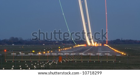 Runway in the evening