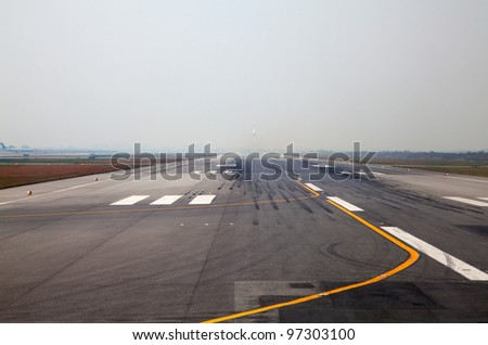 Runway of the Bangkok international airport