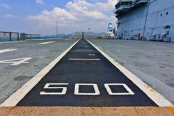 Runway on an Aircraft Carrier