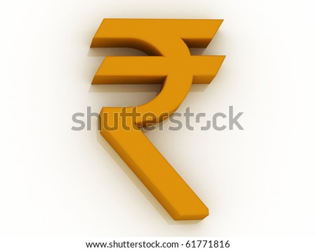 rupee sign in white background, the currency of India