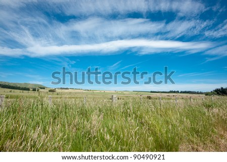 Rural and cloudscape background.